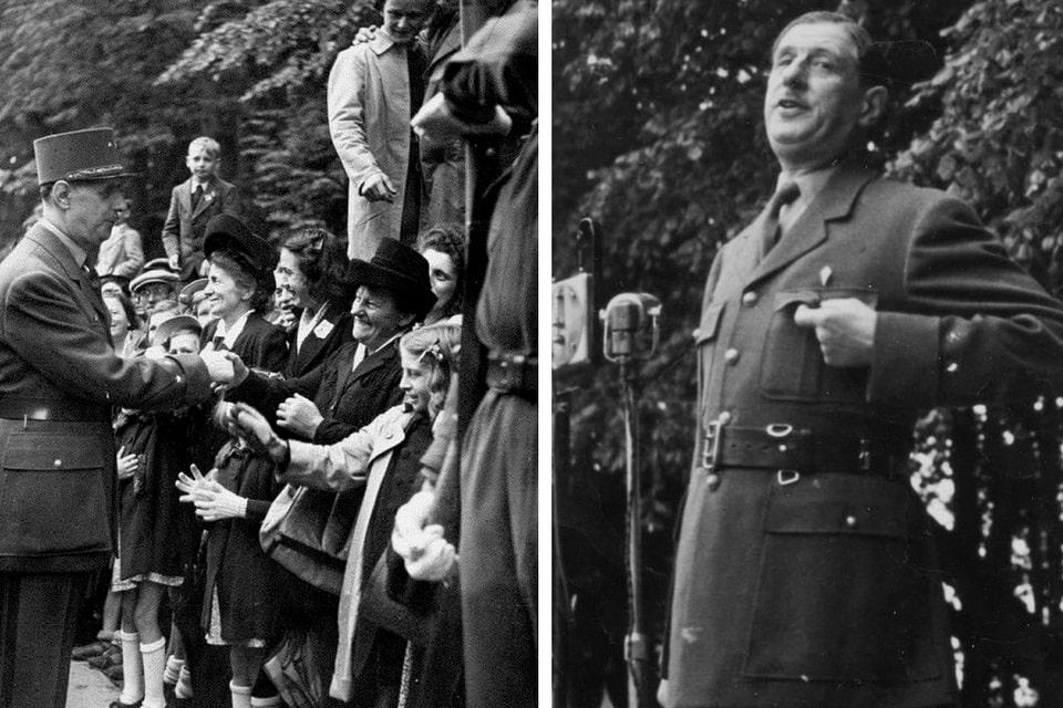 De Gaulle June 16, 1946 in Normandy