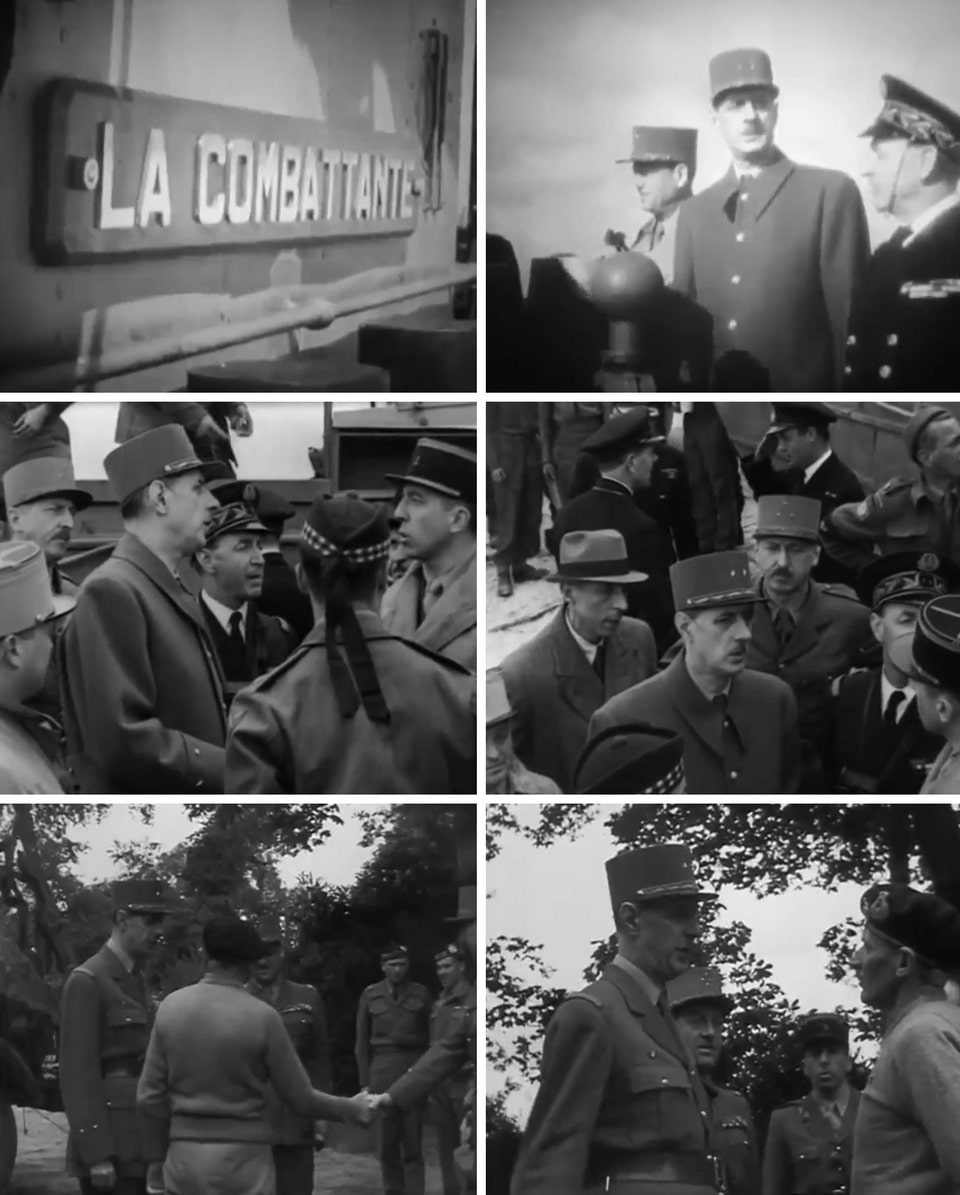 De Gaulle in Bayeux, a historical footage