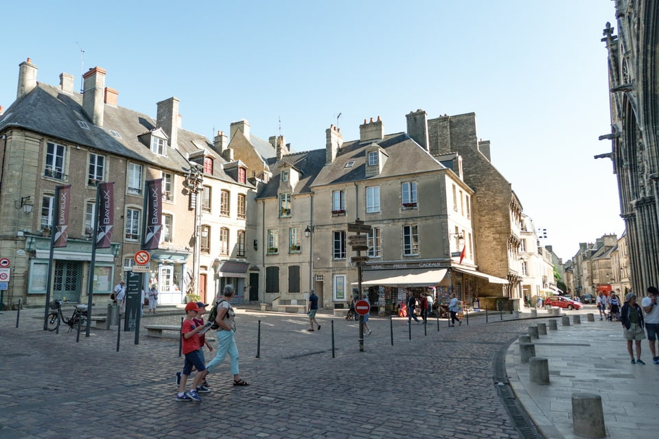 The streets of Bayeux, Normandy, France