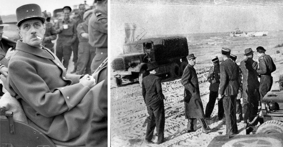 De Gaulle at the Normandy beach, Junr 12 1944