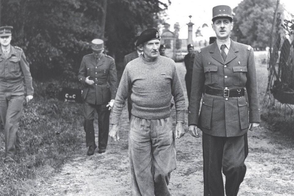 De Gaulle's visit to Monty at Creully