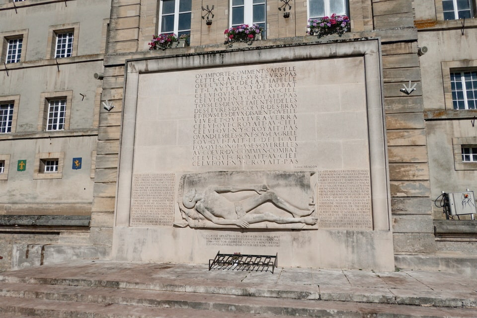 'Monument des Déportés' or 'Deportation Memorial' in Bayeux
