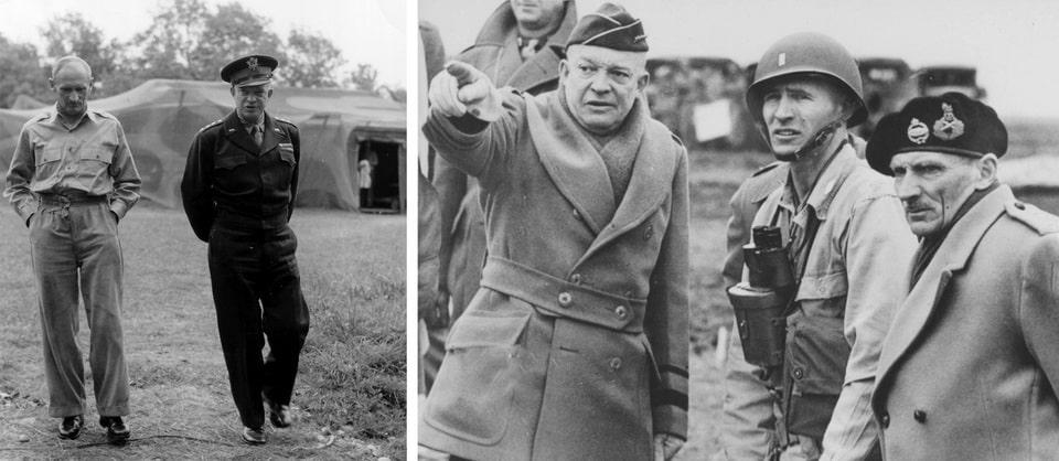 General Isenhower with Bernard Montgomery 1944