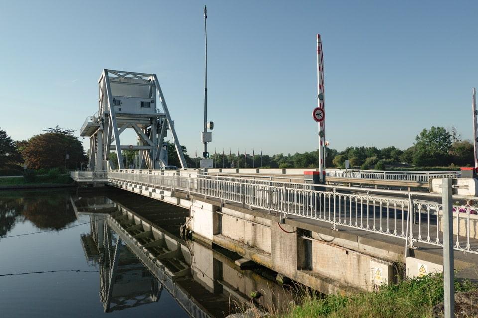 The modern view of the Pegasus bridge