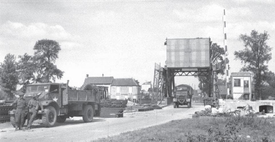 Pegasus bridge after liberation 1944