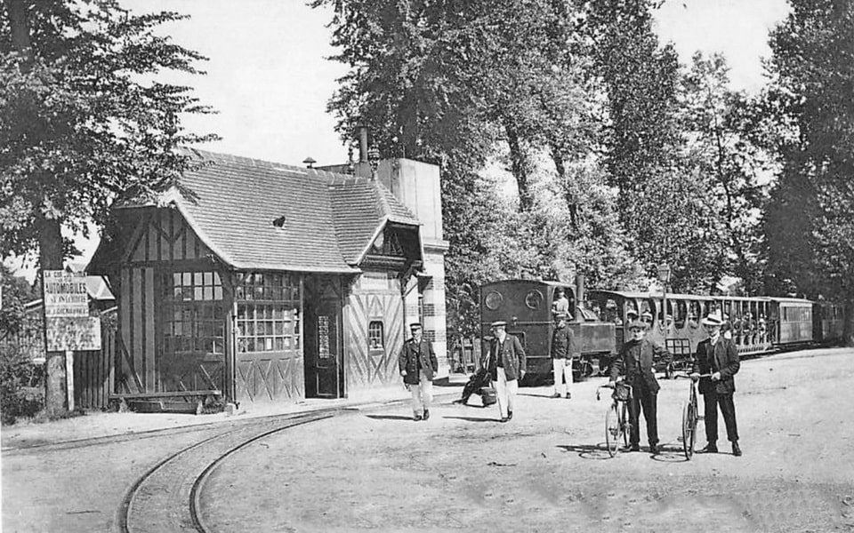 The old tram/train station in Benouville