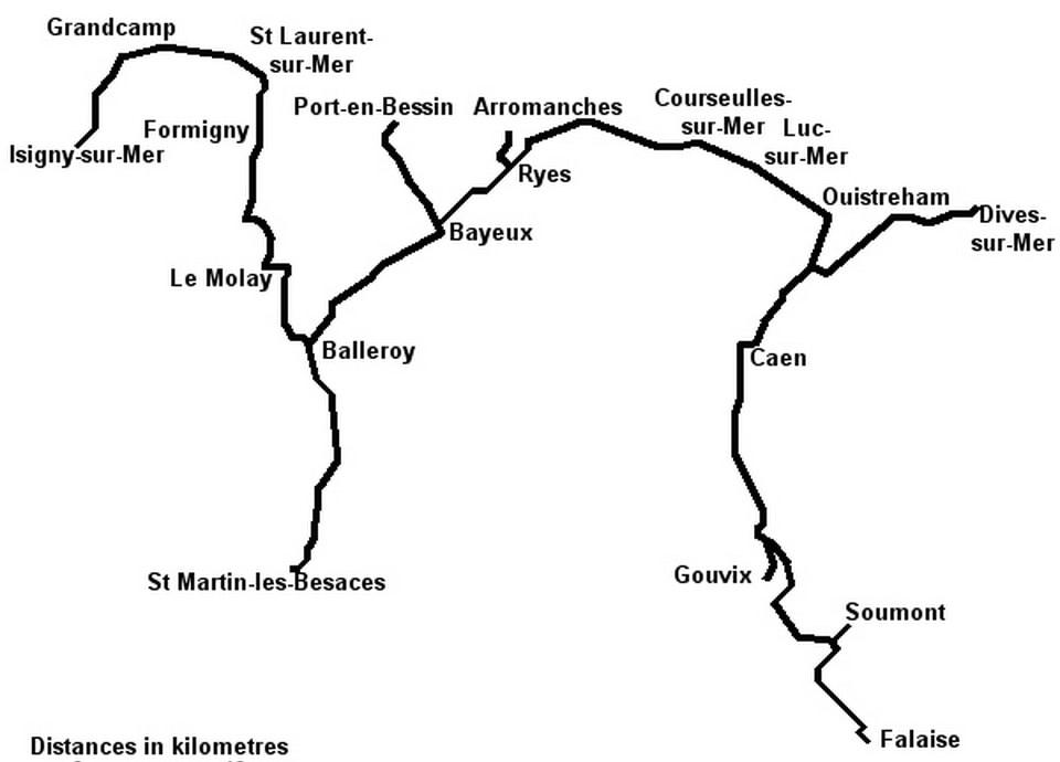 The narrow-gauge tram line in Calvados in late XIX century