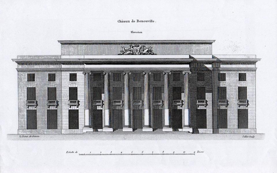CHATEAU DE BENOUVILLE of the XVIII century