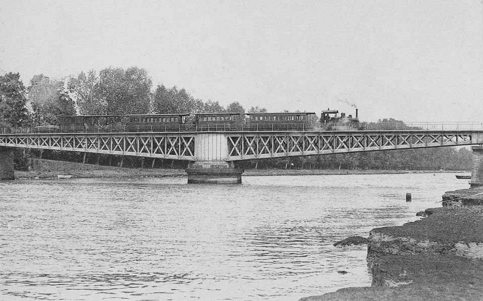 The Ranville bridge in Normandy, better known as the Horsa bridge