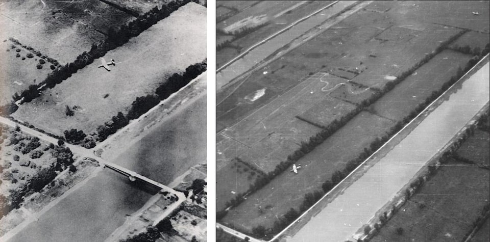 Horsa gliders near the Ranville bridge, June 6 1944