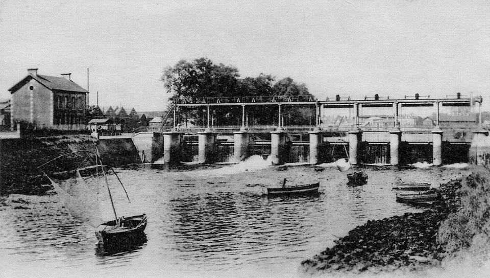 The Caen dam built in 1910