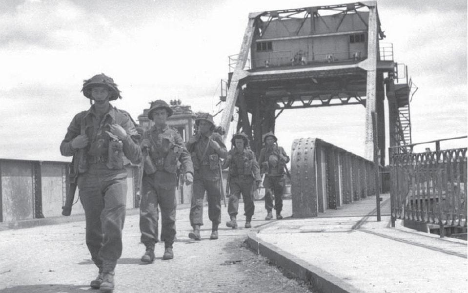 The pegasus bridge after the liberation, June 1944