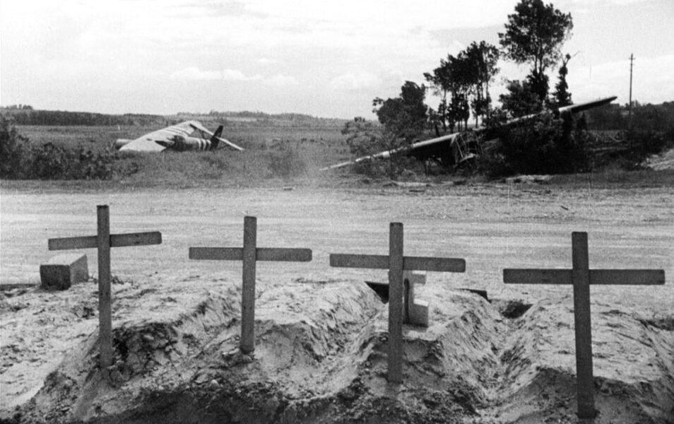 The graves of the british soldiers near Pegasus bridge