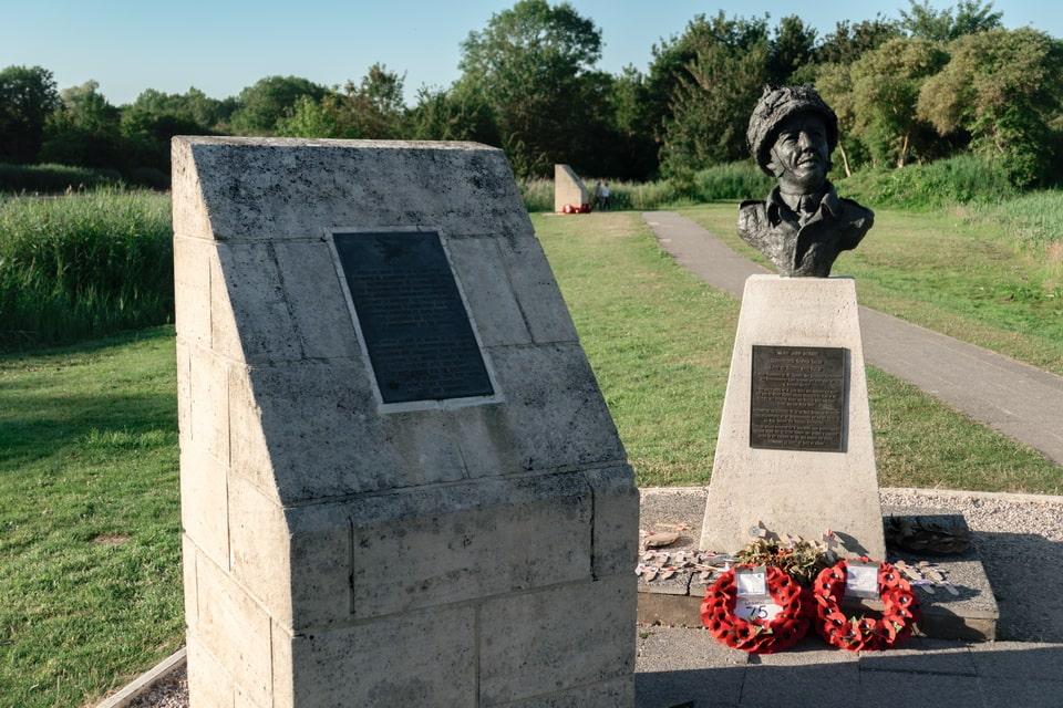 The monument to Major John Howard, Benouville