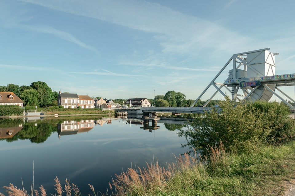 The Canal canal and the Pegasus bridge today