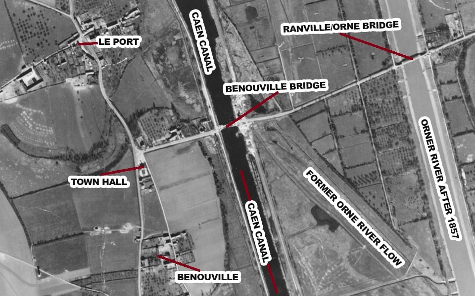 Benouville and Ranville bridges prior to D-Day, France
