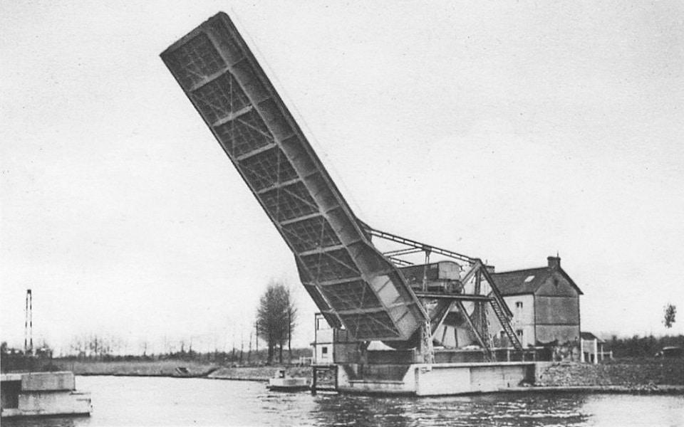 Pegasus bridge in Benouvilli in 1935, pont de Benouville at that time