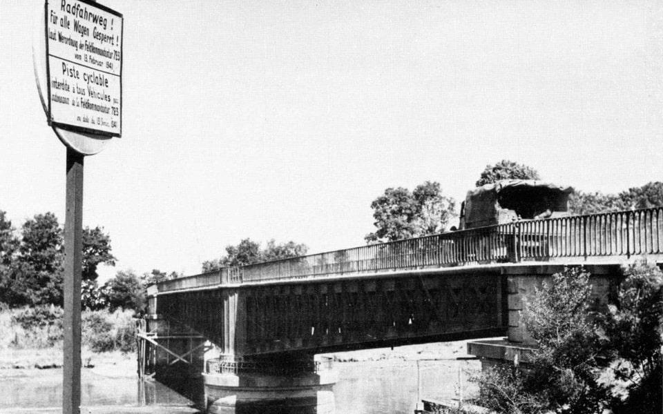 Ranville / horsa bridge in France during WWII