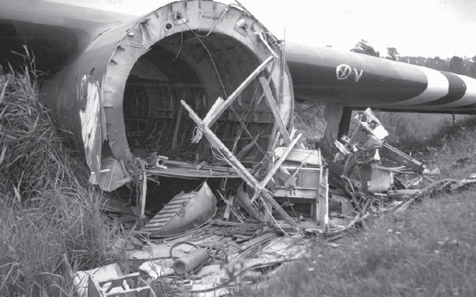 The remnants of the Horsa glider in Normandy